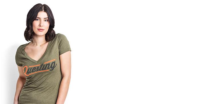 V-Neck T-Shirt Screen Printing