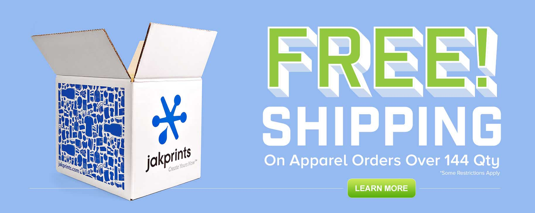 Free Shipping on Custom Apparel