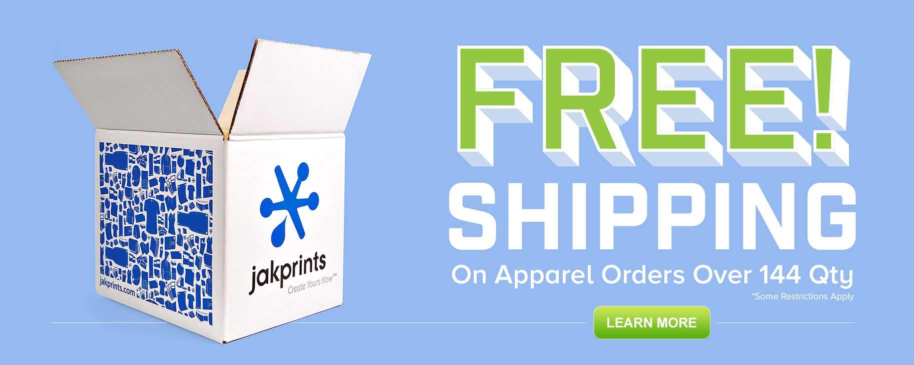 Free Shipping on Custom Apparel