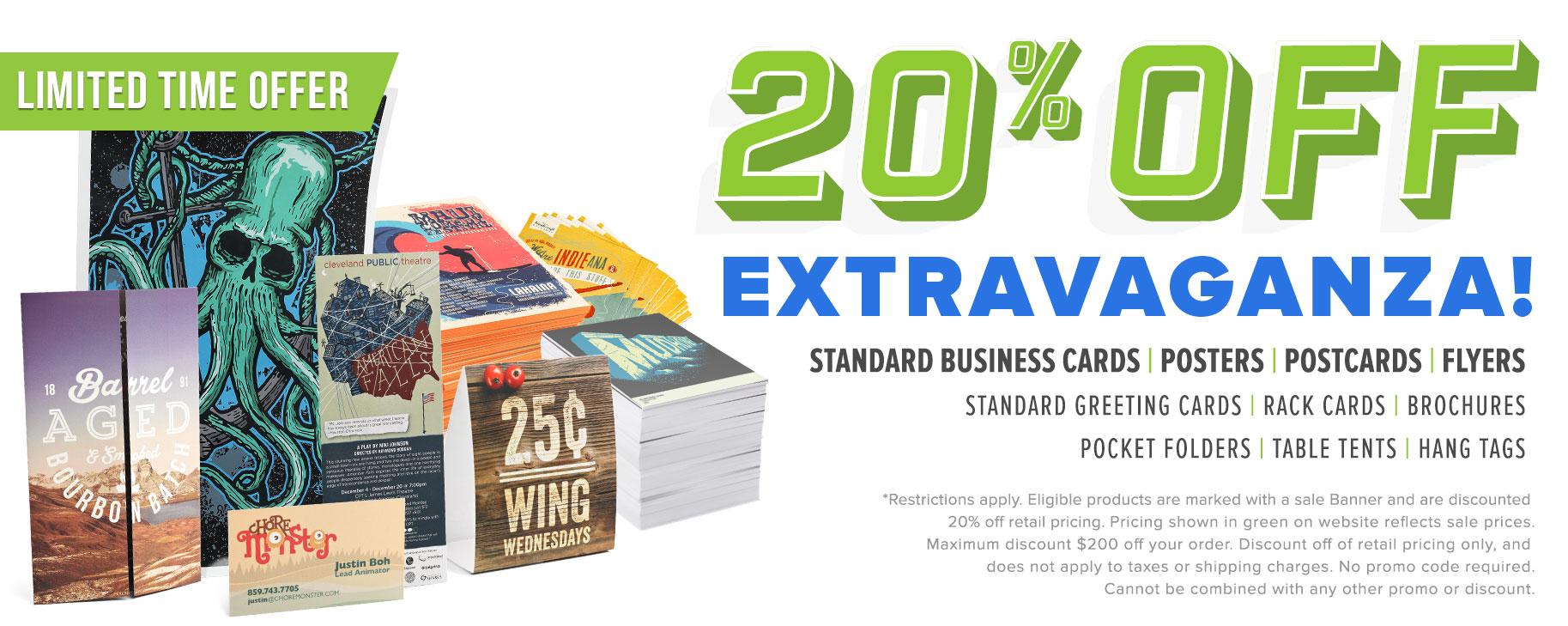 20% Off Extravaganza!